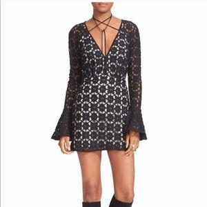 Free people bohemian flare sleeve dress